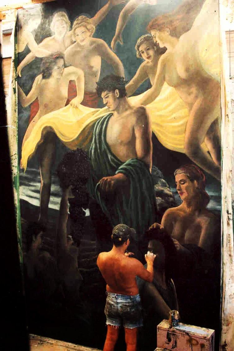 Alegoria al baco (oil )