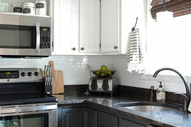 Kitchen Update Smart Tile Backsplash Little House Of Four - Smart tiles backsplash