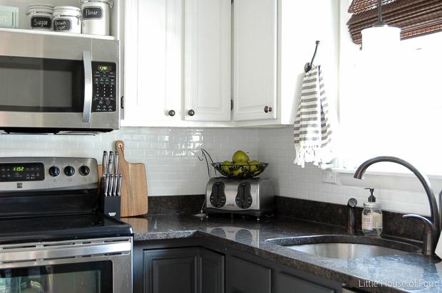 Update your kitchen with a no mess, no fuss tile backsplash from Smart - Kitchen Update!} Smart Tile Backsplash Little House Of Four