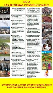 NO A LAS REFORMAS CONSTITUCIONALES DE OTTO PÉREZ MOLINA