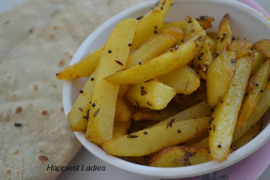 Fried Potato dry served with chapati