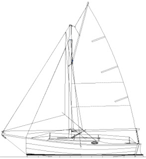 Dudley Dix Yacht Design: Cape May 25, Trailable Gaff Cutter
