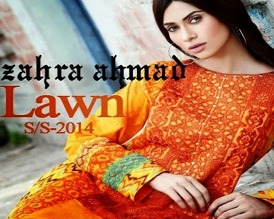 Zahra Ahmad Summer Lawn Collection 2014