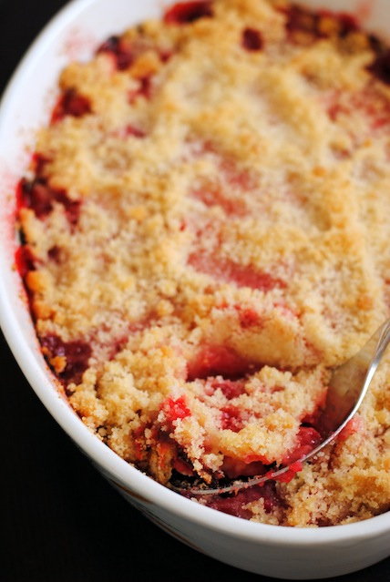 Rhubarb Crumble - a simple, sweet & tart dessert for an abundance of rhubarb.