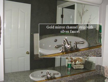 mirror frame kits solve problems in the bathroom