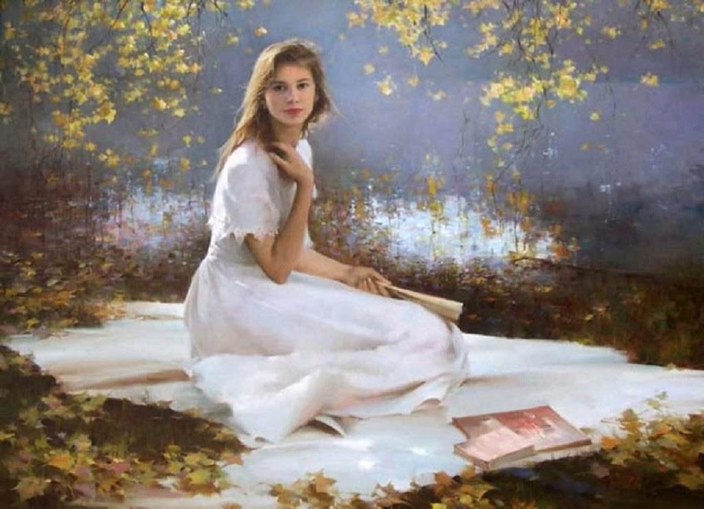 Образы русской домашней девушки картины фотографии