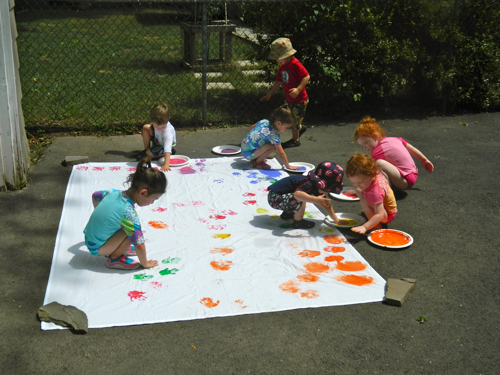 Simply sweet sunday kids painting pool party for Kids paint party