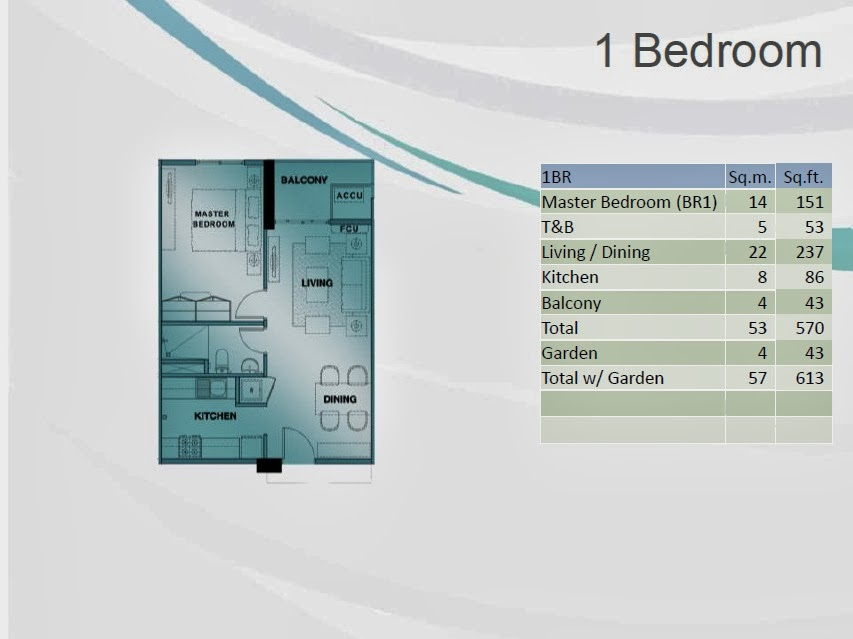 1 Bedroom Unit Layout 853 x 639