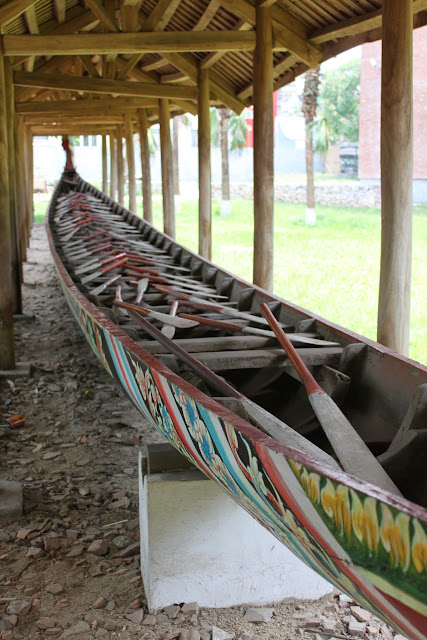 The longest dragon boat that I have ever seen at Museum of Ethnology in Hanoi, Vietnam