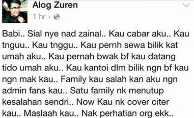 Lelaki Dedah Nad Zainal Pernah Bawa Teman Lelaki Tidur di Rumahnya