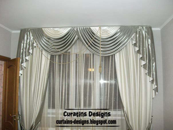 Distinctive Curtains Designs, Grey And White Curtain Designs