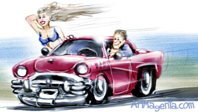 Car cartoon by ArtMagenta