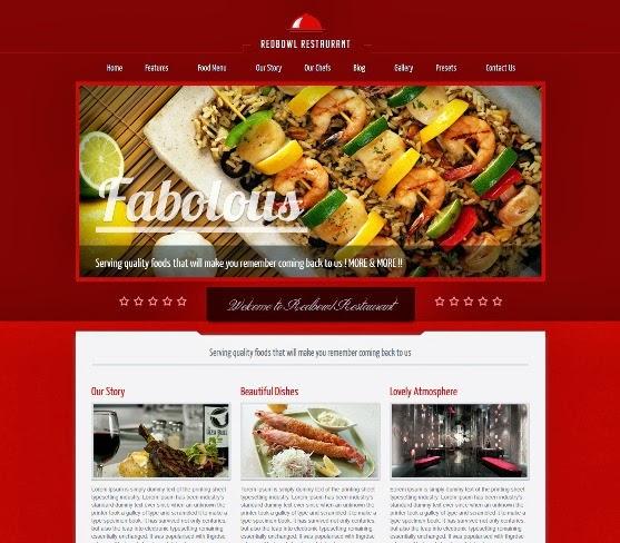 RedBowl Restaurant Responsive Joomla Template