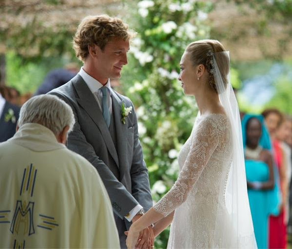 Religious wedding ceremony of Pierre Casiraghi and Beatrice Borromeo