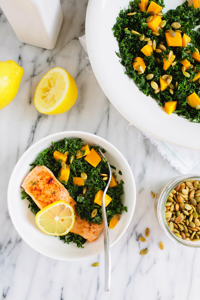 Massaged Kale Salad | Pomelo Blog by Brittany Wood