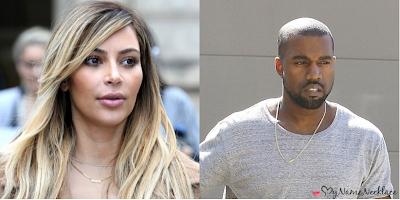 Kim Kardashian and Kanye West wear matching nameplate necklaces