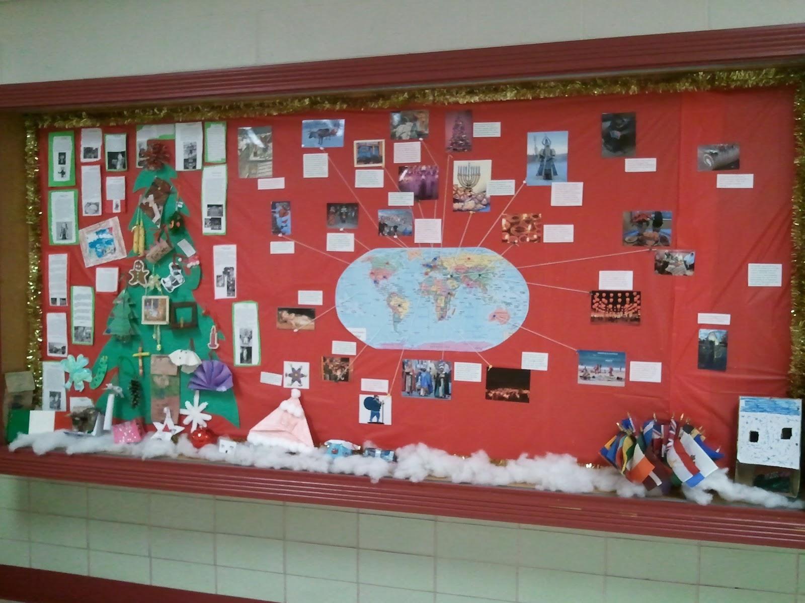 Christmas Around The World Bulletin Board Part - 18: u003cu003c REWIND: Christmas Projects