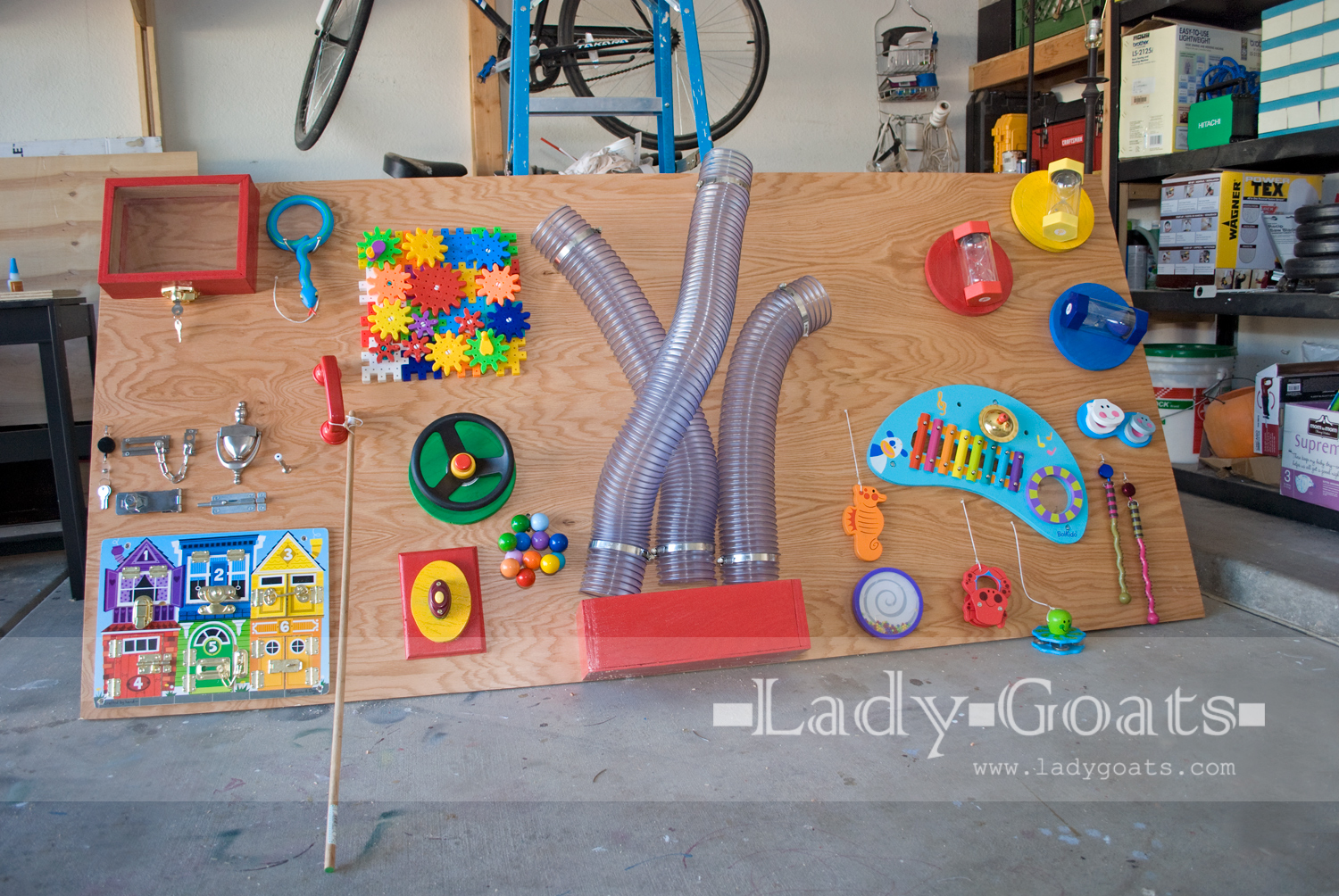 Lady goats children 39 s sensory board for Room and board kids