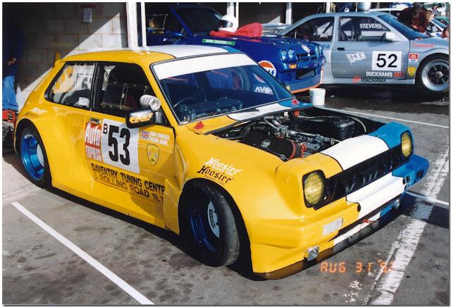 Toyota Starlet P6, Thunder Saloons, sportowe samochody, wyścigi, tuning