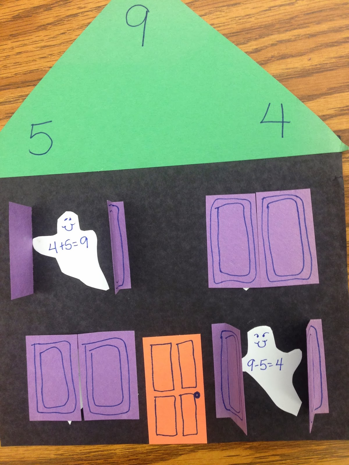 fall math game - fact families and candy corn craft | Math ...