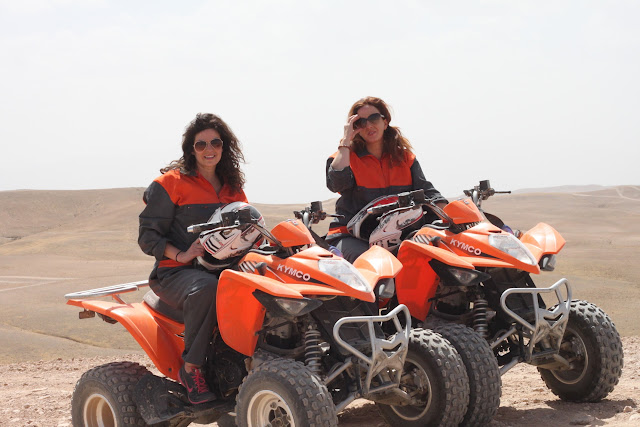 Leyla and Traci on ATVs