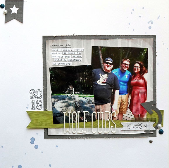 Scrapbook Layout (via shezigzags.blogspot.com)
