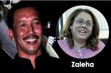 Gambar Zaleha Mohd Khalid dan Jalani Sidek Bercinta