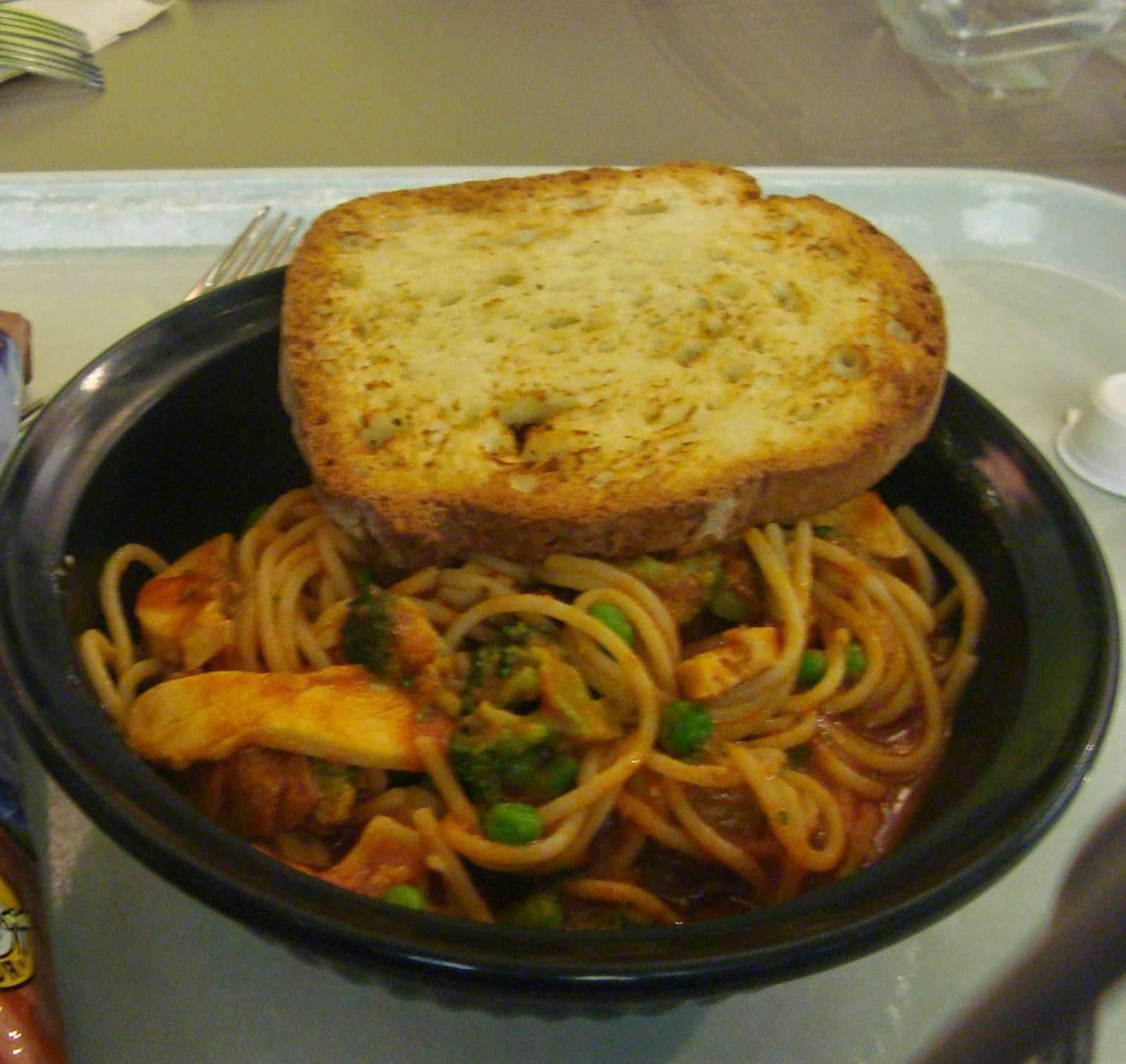 Gluten Free Pasta and Garlic Bread