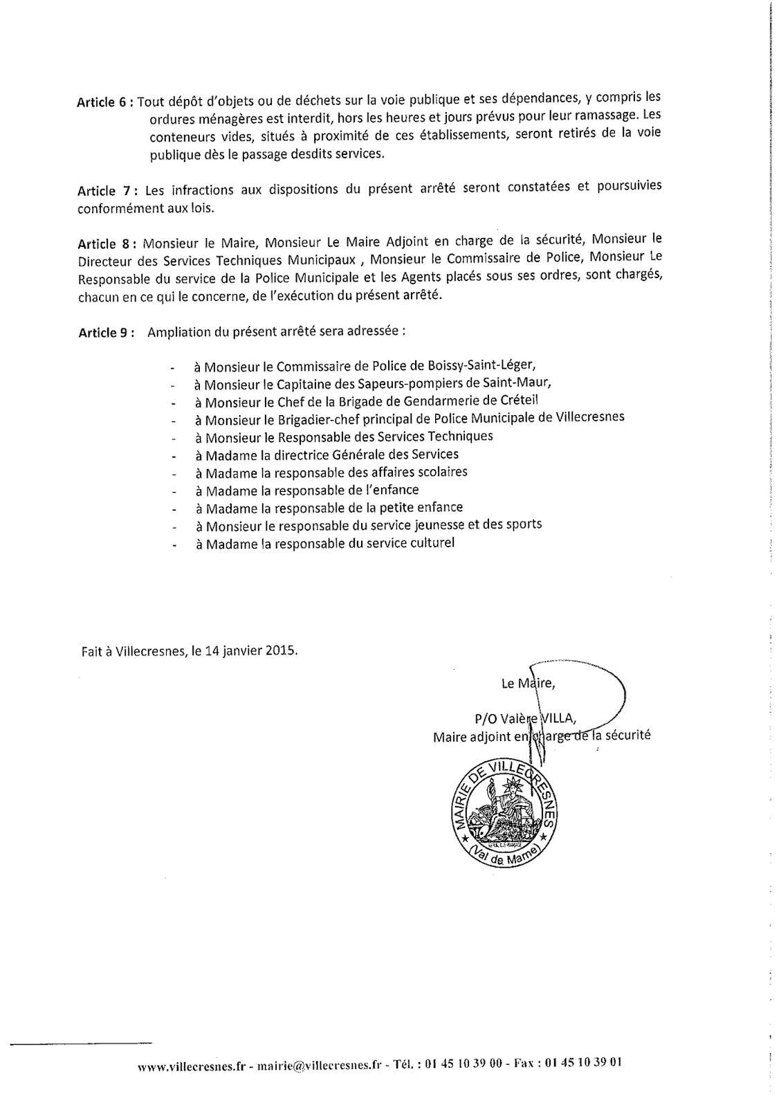 2015-004 Application du plan vigipirate niveau Alerte attentat du 8 janvier 2015