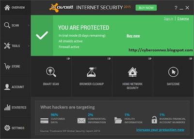 Avast Internet Security 2015 v10.0 Full + License Key