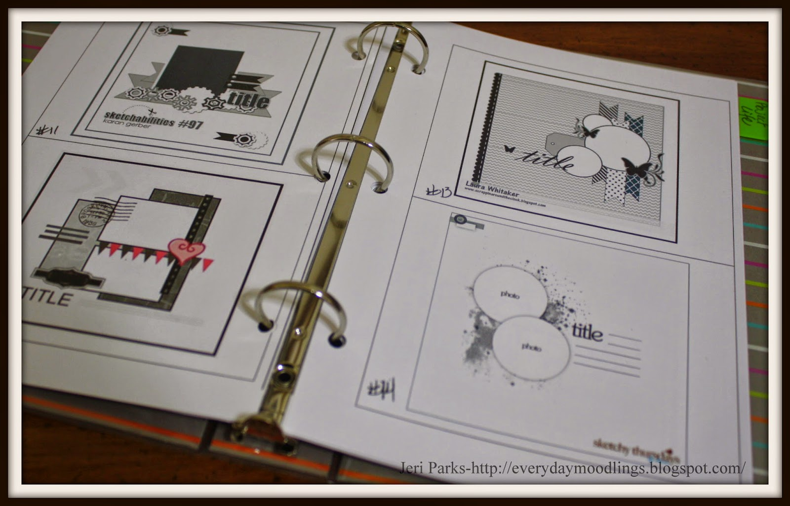 Everyday Moodlings-Using Scrapbook Sketches