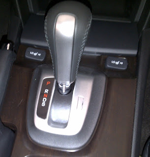 Automatic transmission lever on a new vehicle