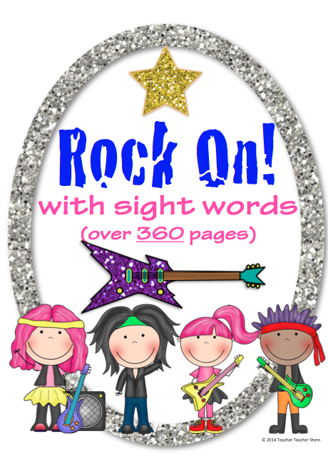 http://www.teacherspayteachers.com/Product/Rock-On-Sight-Words-Bundle-Display-Poster-and-Word-Work-Sets-1-5-Grades-K-3-1367331