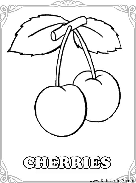 Fruits And Berries Coloring Pages