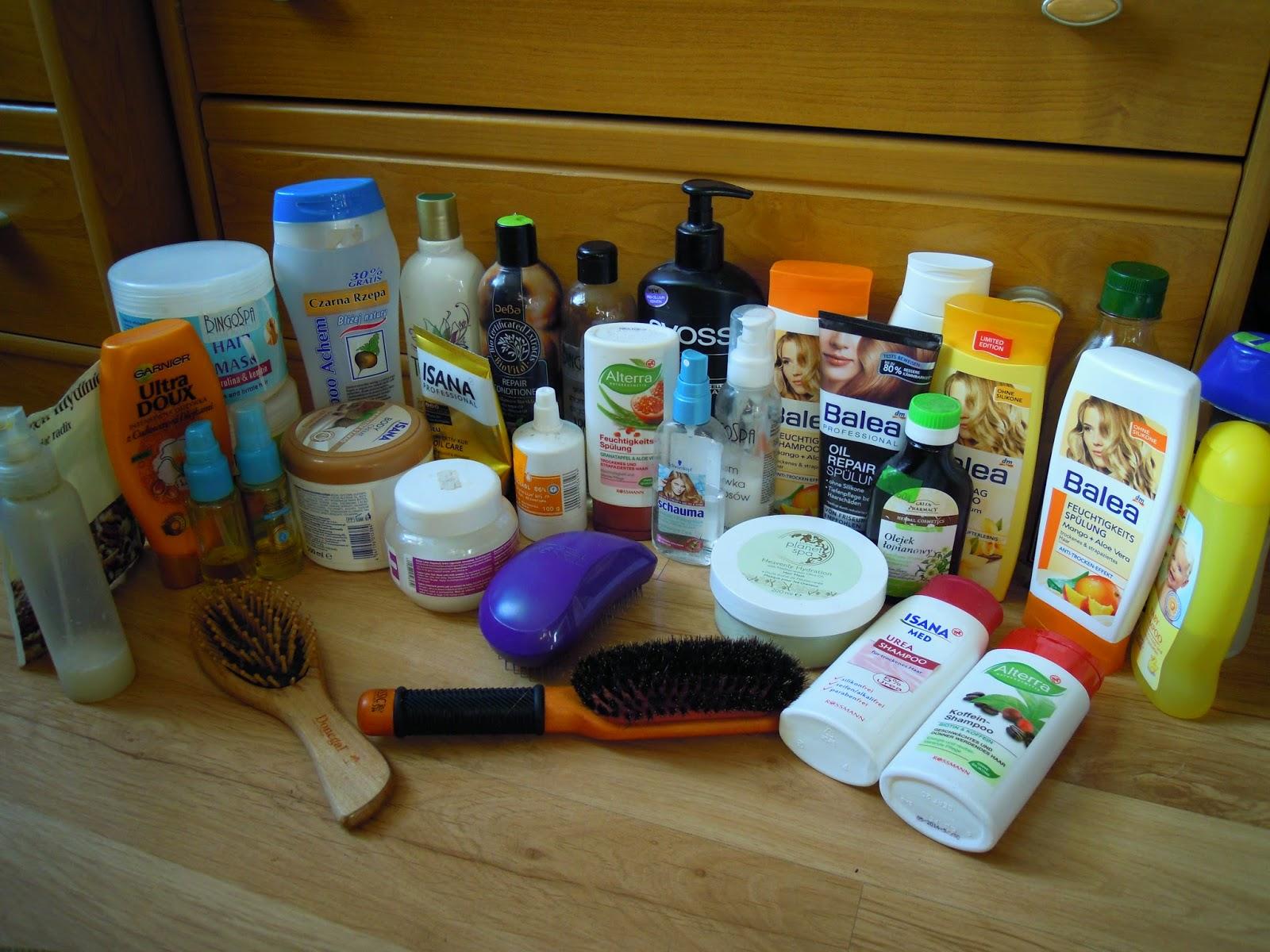 Kosmetyki którymi aktualnie pielęgnuje włosy Marzec 2015