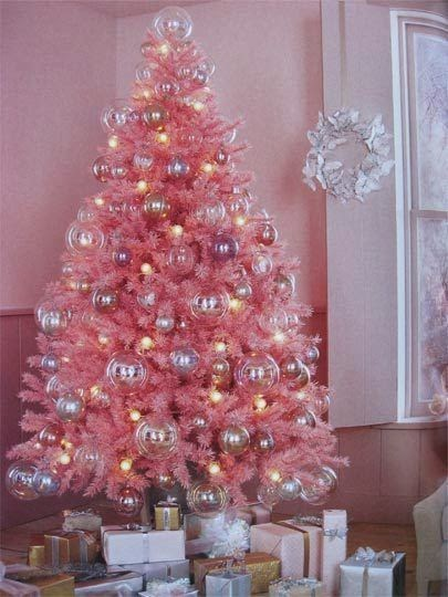 Get it in pink - Everything pink: Some pink Christmas tree inspiration