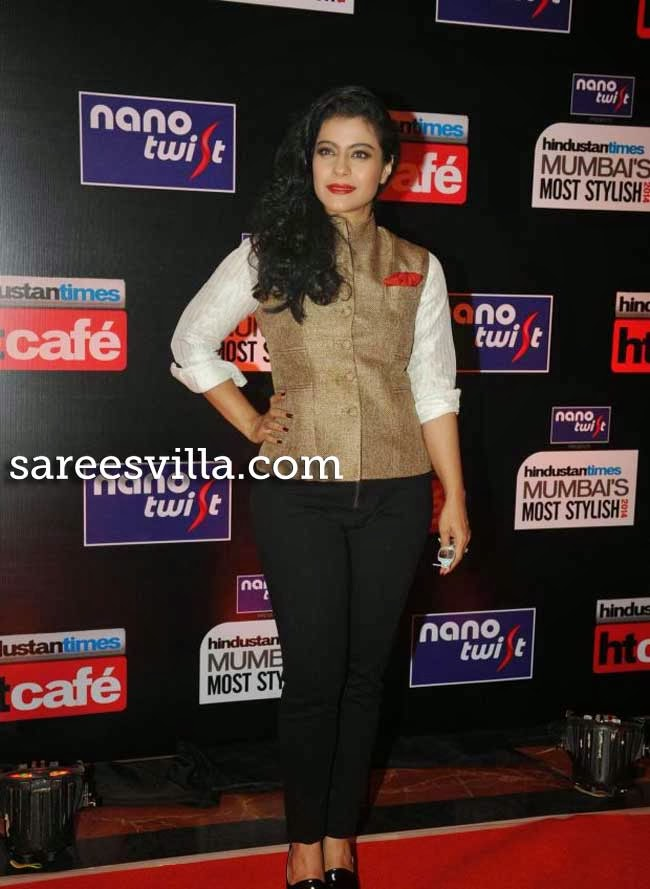 Kajol at Most Stylish Awards 2014
