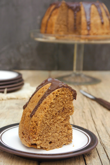 Hazelnut and chocolate bundt cake