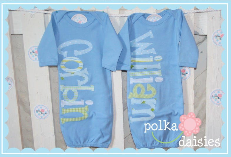 Polkadaisies boutique childrens clothing and gifts polkadaisies polkadaisiesrsonalized baby gifts twins triplets name baby blankets name gowns negle Choice Image