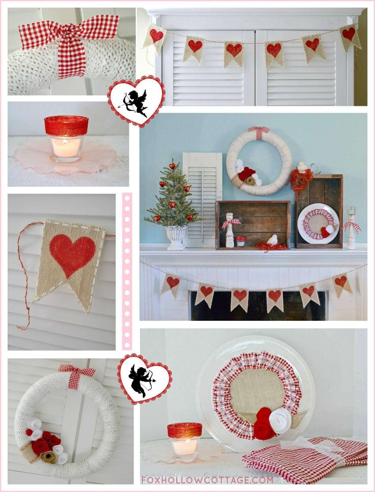 Home Decor Crafts Part - 30: Valentineu0027s At Fox Hollow {cheapity-cheap Diy Style}