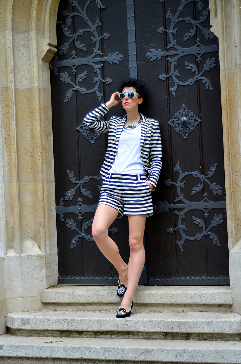 mango striped suit