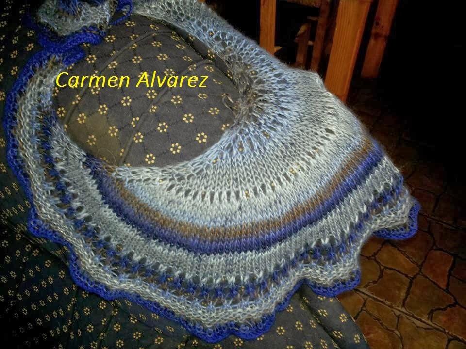 Tejiendo crochet y más...: 50 Row shawlette