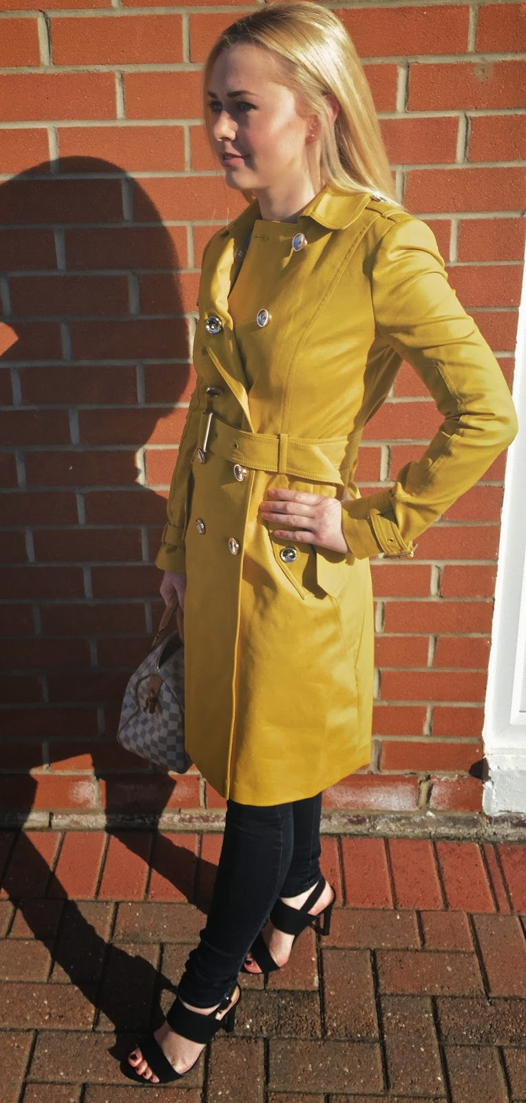 River Island Trench Coat, Louis Vuitton Speedy