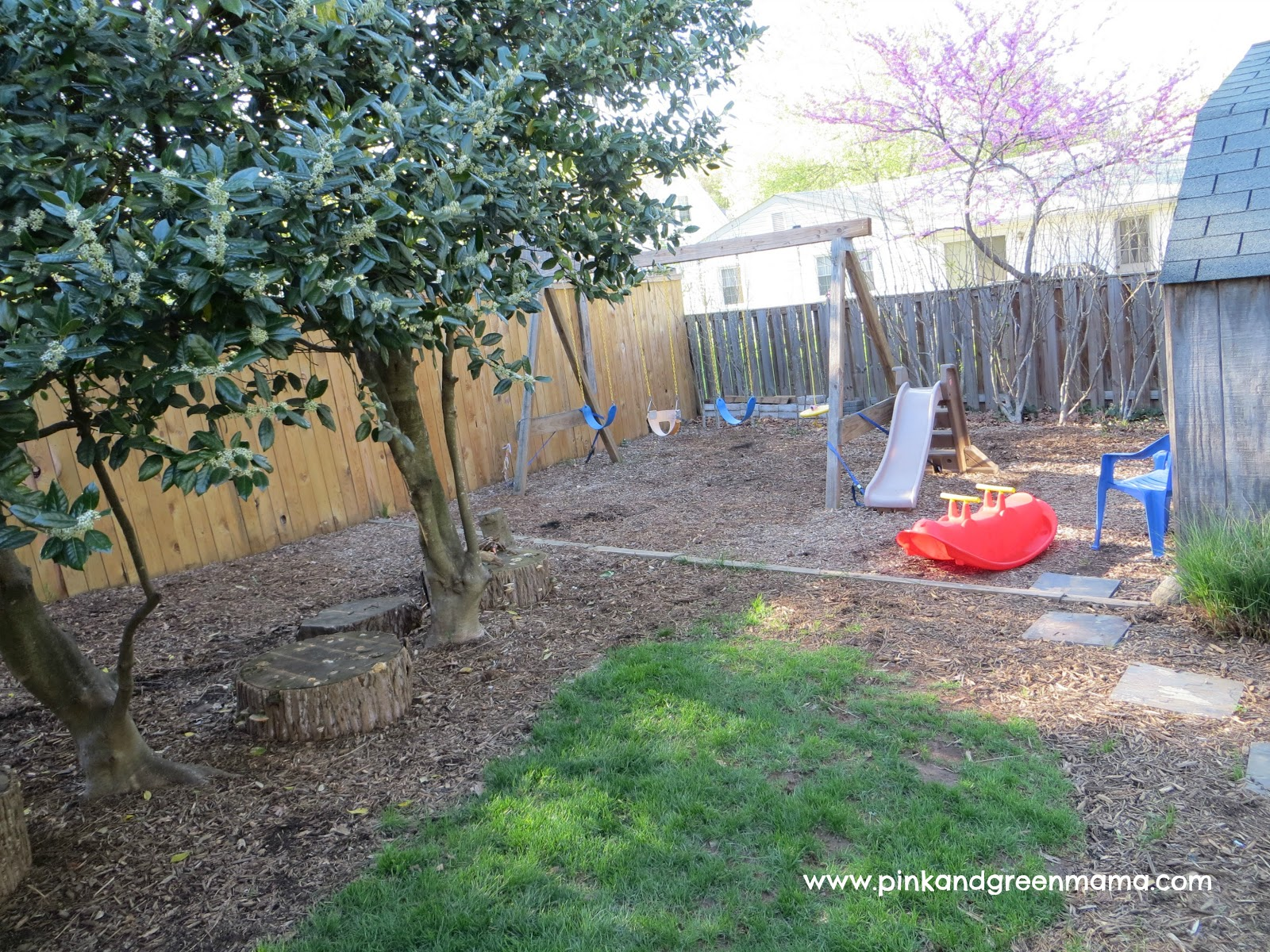 Backyard Playground Diy :  +Play+Area+DIY+Swing+Set+pinkandgreenmamablog Backyard Playground Diy