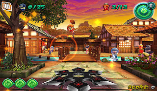 Screenshots of the Ninja shuriken for Android tablet, phone.