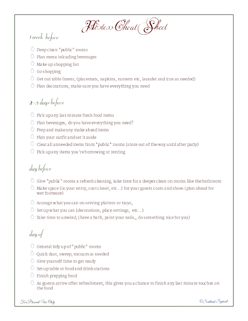 free printable, holiday planner, checklist, party planner,
