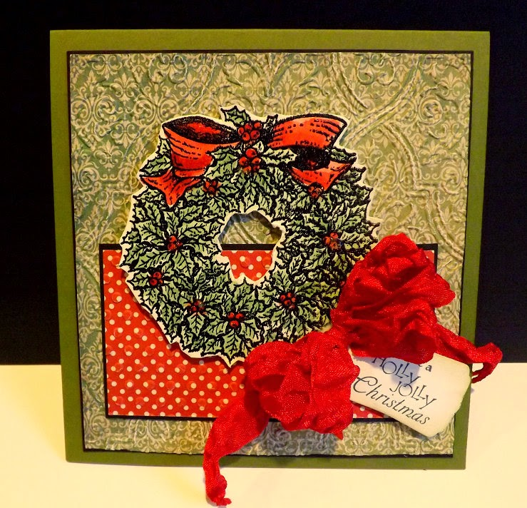 Our Daily Bread Designs, Holly Wreath, Mini Tags Dies, Designed by DJ Rants