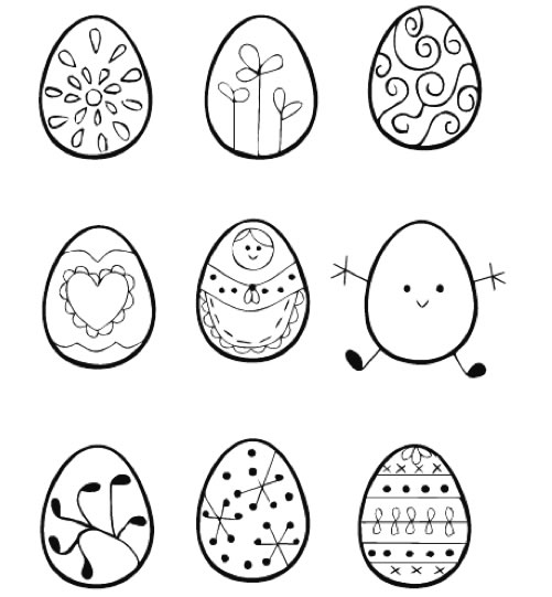Be Differentt Normal Easter Egg Embroidery Patterns