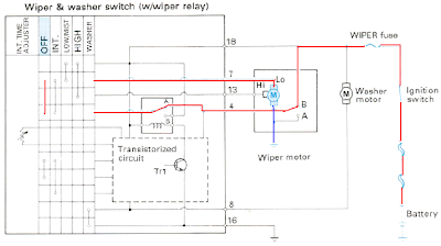 Wiring Diagram Cara Kerja Wiper Off