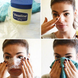 removing makeup with vaseline